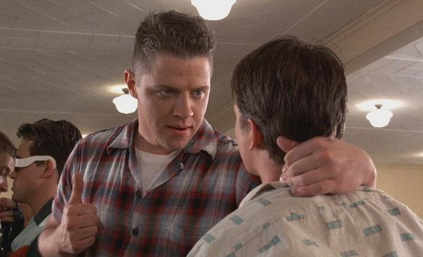 "Biff Tannen in ""Back to the Future"""