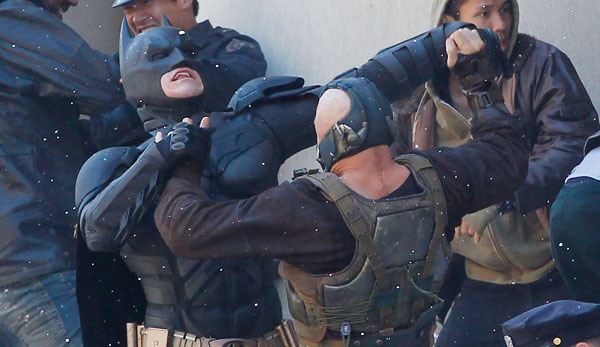 batman & Bane On Set 1