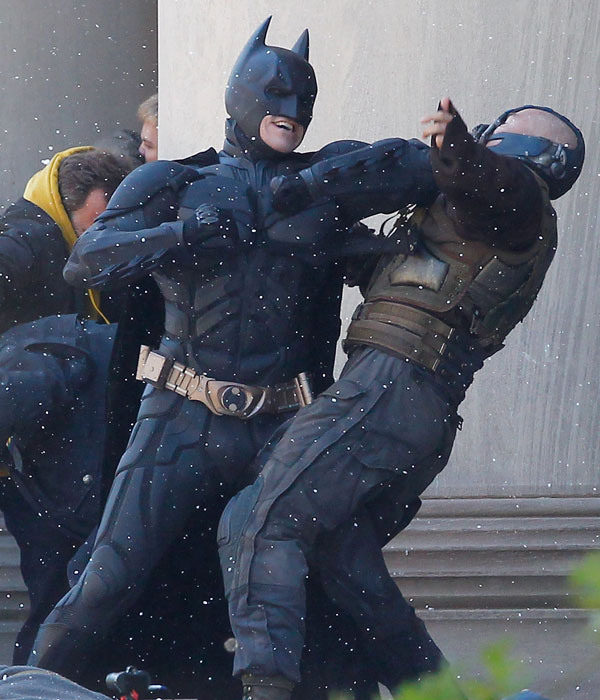 batman & Bane On Set 2