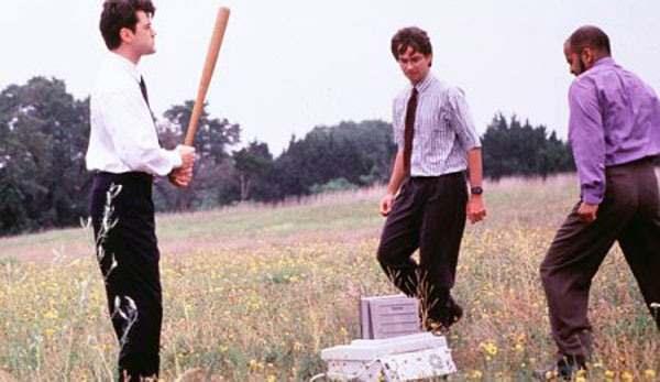 Peter, Michael and Samir vs. The Printer - Office Space - Image