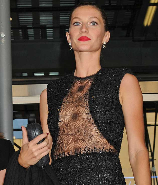 Gisele Goes See-Through for Charity
