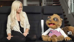 Lindsay Lohan's Career Prospects Are So Poor, She's Schlepping it with a Creepy New Zealand Puppet