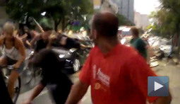 Angry Motorist Plows into a Few Bikers en Route to his Appointment with the Devil