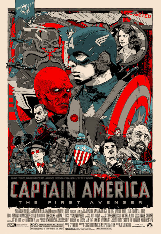 Amazingly Rad Mondo Posters for Captain America: The First Avenger - Tim Stout
