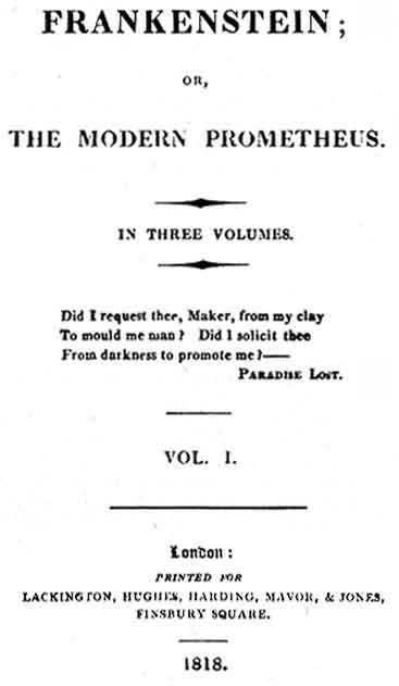 Mary Shelley's Frankenstein book