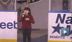 Hockey Fans Have Hearts of Gold, Solid Grasp of American Anthem