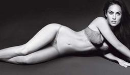 Megan Fox in Her Underwear for Armani
