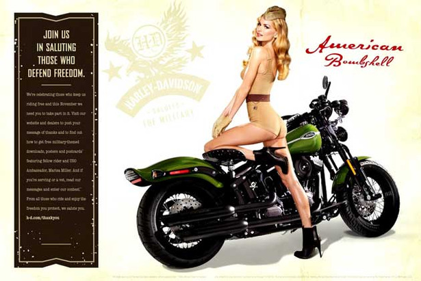Marisa Miller Rides It for the Troops