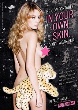 Keeley Hazell Poses Topless for PETA
