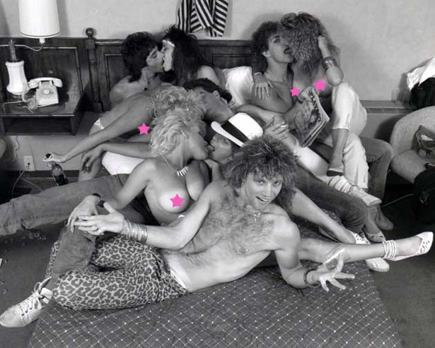 Bon Jovi Parties with Topless Babes