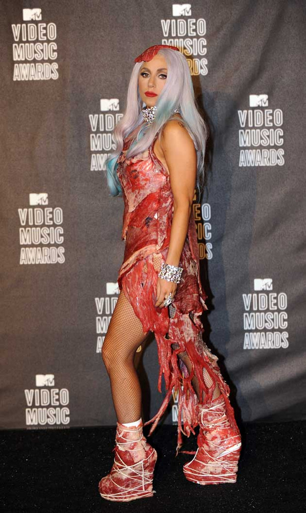 Lady Gaga Gets Her Meat On