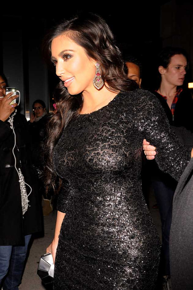 Kim Kardashian Narrowly Avoids See-Through Wardrobe Disaster