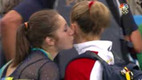 Awkward Olympic Kiss