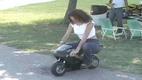 Chick on a Mini Bike