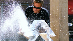 Carving Ice Sculptures With Chainsaws
