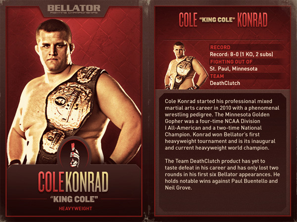 Bellator Konrad card
