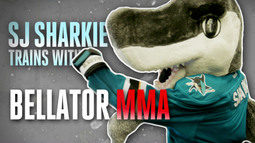 SJ Sharkie trains for Stanley Cup Playoffs!