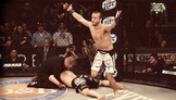 Pat Curran Chokes Out Shahbulat Shamhalaev - Bellator 95 Moment