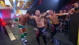 3-Way Tag Championship Match: The BroMans Vs. The Wolves Vs. Sanada & Tigre Uno
