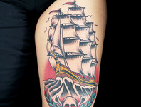 Elimination Tattoo: American Traditional Production Style