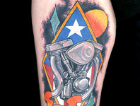 Elimination Tattoo: Hot Rods & Choppers (Neo Traditional)