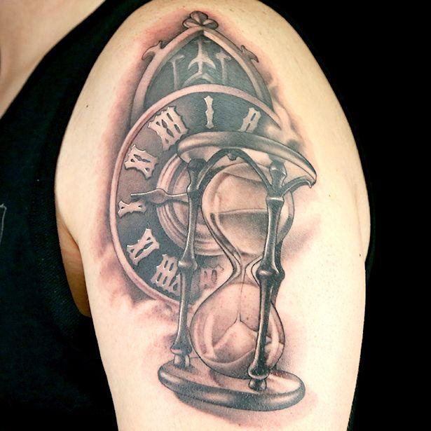 elimination tattoos hourglass ink master. Black Bedroom Furniture Sets. Home Design Ideas