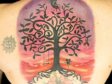 Elimination Tattoo: Watercolor