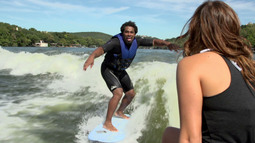 Wake Surfing With Ashley Kidd