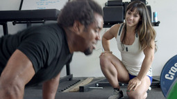 Dhani Jones Sets The Pace With Camille Leblanc-Bazinet