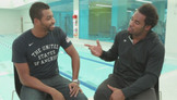 Cullen Jones takes Dhani to the Deep End