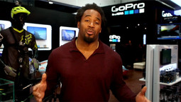Dhani Jones at CES: Checking out the GoPro
