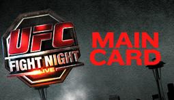 UFC Fight Night Live Blog - Main Card